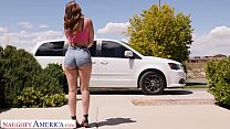 Naughty America - Kelly Turner (Kenzie Madison) gets fucked in the back seat