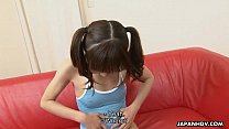 Petite and adorable Asian teen getting face spunked video