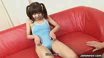 Petite and adorable Asian teen getting face spunked Preview