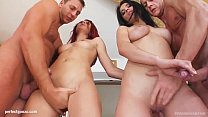 Ruby and Kasandra in hardcore fuck and cum swap...