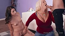 Alura jenson teaches step daughter how to suck