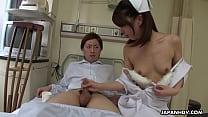 Japanese Nurse  Reina Wamatsu Rubs Dick  Uncens