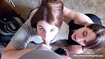 Her husband CAUGHT us with CUM on our faces, but Paige Steele and I make it up to him with a good fuck! thumbnail