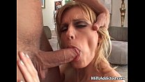 Incredible blonde MILF blows hard dick - download fuck videos thumbnail