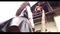Slut girl's fetish fuck at the house roof