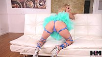 Hot petite Carolina Sweets takes 2 cocks in her pussy in 4 man IR gangbang
