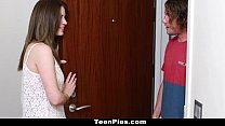 TeenPies - Teen Gets Creampied By Her Mom's BF video