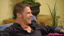Amateur couple in the groupsex mansion for the first time preview image