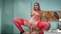 (August Ames02) Big Round Tits Girl Love Intercorse In Office video-06