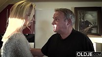 Young Old porn Martha gives grandpa a blowjob and has sex with his old dick thumbnail