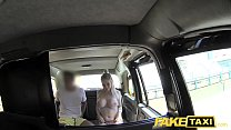 Fake Taxi Cabby tries his beginners luck on hot blonde with big tits image