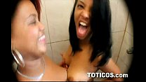 Screenshot Two Teenage Dominican Babes Tag Team A Horny Bl