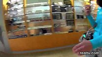 Glamorous czech cutie was teased in the supermarket and screwed in pov