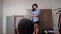 Image: 19yo, Spanish, BIG BOOBS and a jealous boyfriend. Lina doesn't know where she got into.