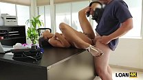 LOAN4K. Agent drills naive client and films eve... Thumbnail