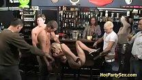busty blonde banged at the cocktail bar thumb