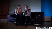 Horny stepsister teen pulled out a stepbrothers huge cock - 69VClub.Com
