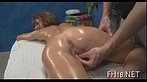 Hot chick plays with cock