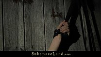 Redhead slutty bondaged in the barn and sex - tamed thumbnail