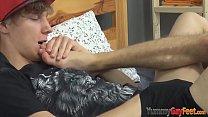 Teens lovely feet jizzy