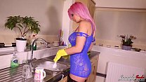 British Sexy Horny Milf Masturbates In Kitchen pornhub video