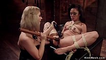 Ebony spinner lesbian anal fucked lezdom
