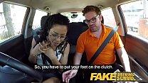 Fake Driving School Ebony American minx Kira Noir craves cock creampie Image