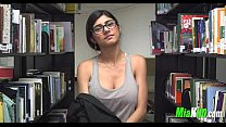 Mia Khalifa plays in the library 92