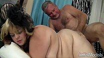 Pretty plumper Buxom Bella enjoys a fat cock preview image
