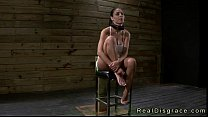 Busty brunette Jasmine Caro chained to a post and deep throat fucked Preview