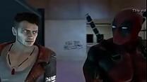 Deadpool follando en el baño