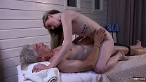 19796 Skinny Teen Massage has sex with grandpa licks his small cock preview