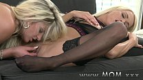 MOM Lesbian MILFs Kissing and Eating Pussy thumb