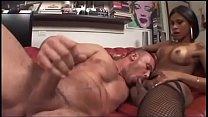 Shemale enjoy a muscle boy