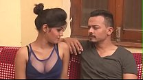 Hot Indian milf cleavage show boob press kissin...