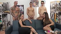 bangbros hd ‣ helena kramer and candy enjoy an orgy with three younger guys thumbnail