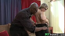 Teacher with glasses tries big black dick Velicity Von 2 preview image