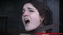 Roundass Teen Toyed From Behind While Bound