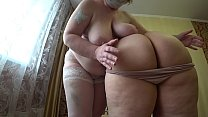 10812 Sexual foreplay of two mature lesbians with fat asses, gradual undressing and caress. preview