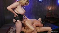 Three lesbians anal gaping and fucking