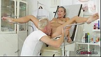 Busty Tanned Teen Blonde Get A Thorough Checkup From Doctor