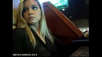 Screenshot Hot Blonde Public Flashing In A Bar