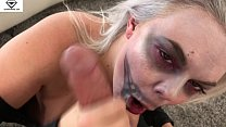 Alice Frost Halloween Skeleton Blowjob & Titty Fucking