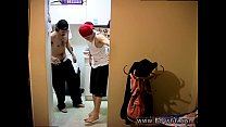 Pissing in white young boy gay twink briefs Ian & Dustin Desperate To