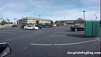 Teen sucks off strangers in parking lot in public