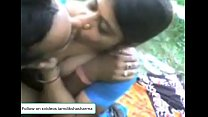 Image: Indian Aunty with young boy playing with tits & desi pussy