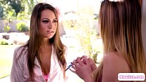 Horny teacher tastes her 18yo student's Thumb