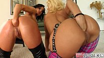 Fist Flush horny lesbo babes fist hard