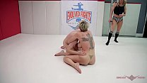 Jay West has his balls busted in a sexy match with Dee Williams صورة