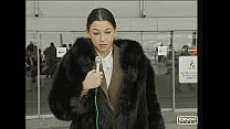 Anal Kika In A Black Fox Fur Coat